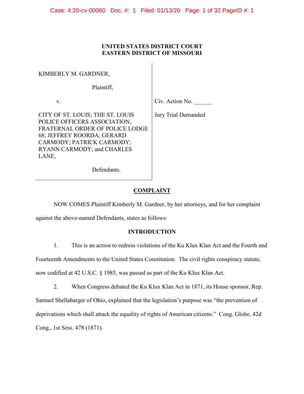 Read the lawsuit Kim Gardner filed alleging racist conspiracy
