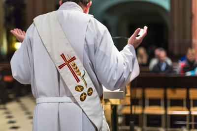 Priest during a Mass