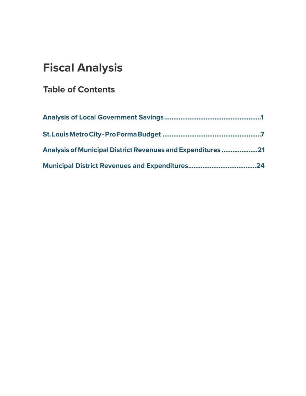 Better Together municipal finance fiscal analysis