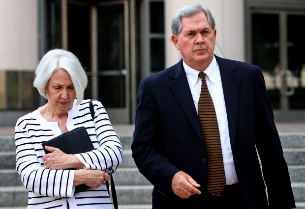 Former Missouri Gov. Roger Wilson pleads guilty- leaves courthouse with wife