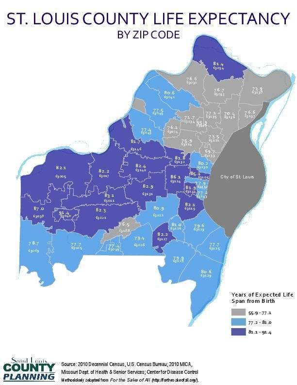 Life Expectancy By Zip Code Stltoday Com