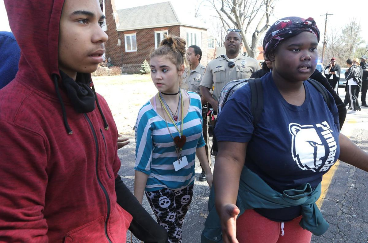 Riverview Gardens students walk out against violence