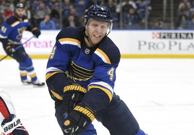 777d2e54e82 Gunnarsson showing what he can do as contract with Blues winds down ...