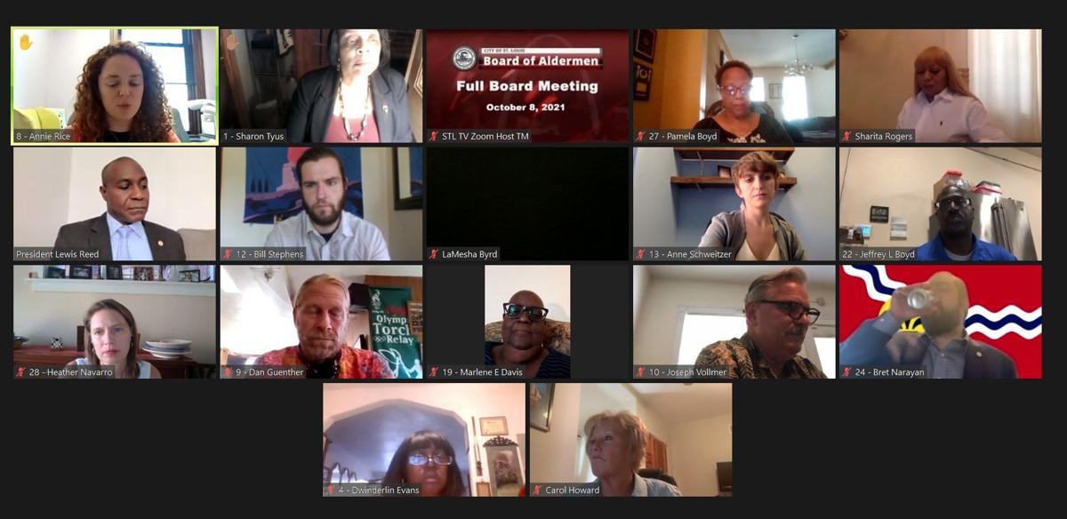 St. Louis Board of Aldermen 10-08-2021