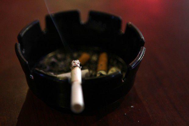 Smoking at Hot Shots in Fenton