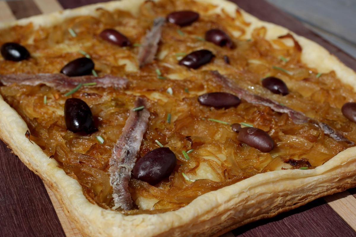 Caramelized Onion Tart with Kalamata Olives