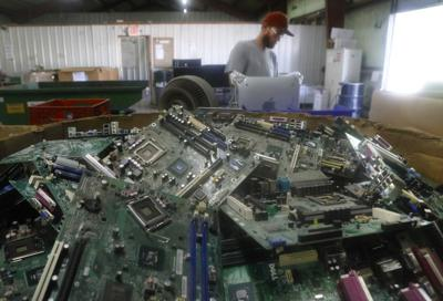 Midwest Recycling Center de-manufactures almost anything electronic