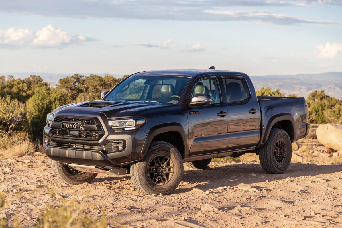 For 2020, the Toyota Tacoma can be had in trims of SR, SR5, TRD Sport, TRD Off-Road, Limited and, pictured, TRD Pro.