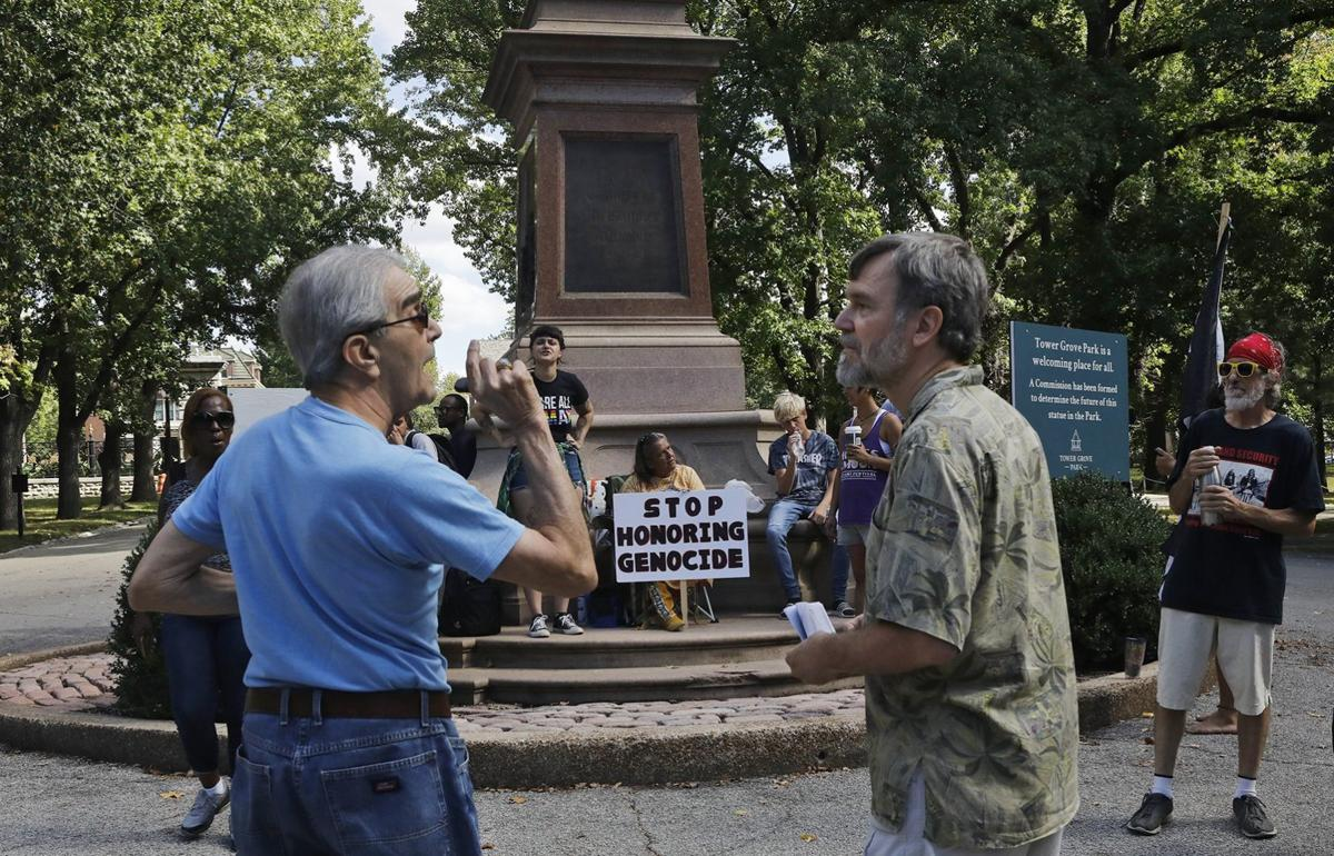 Debate continues over Columbus statue in Tower Grove Park