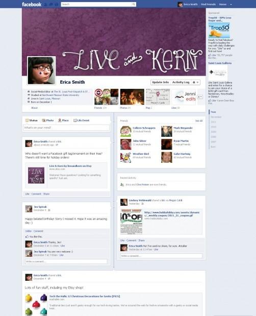 Facebook Timeline: Erica Smith