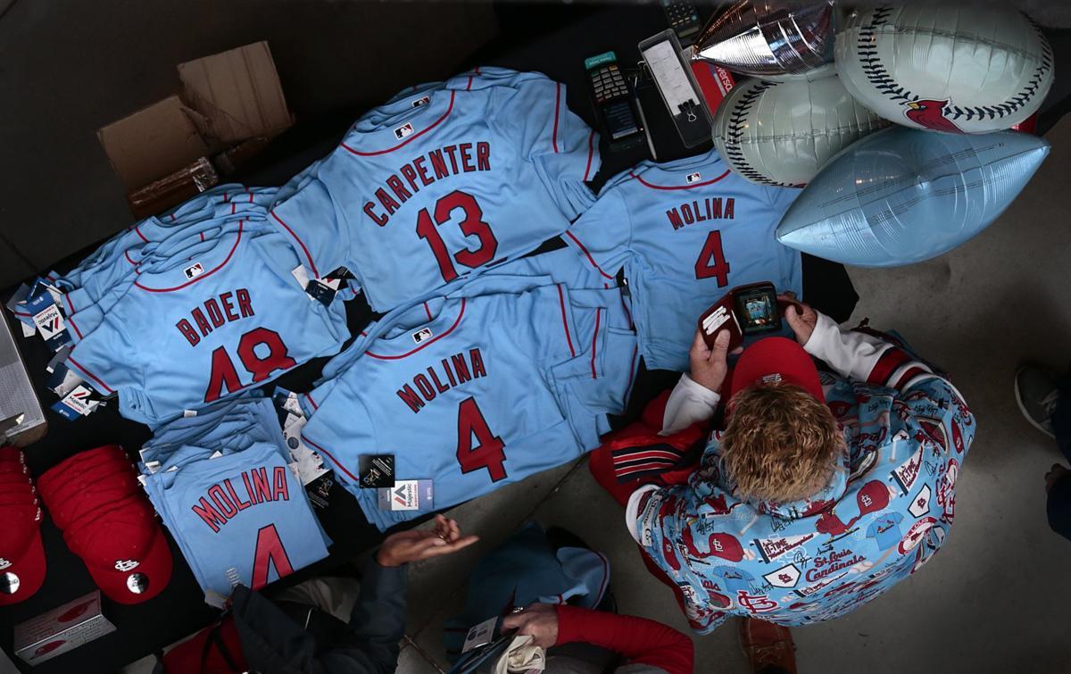 c30e8195980 Cardinals bring back the blue jerseys