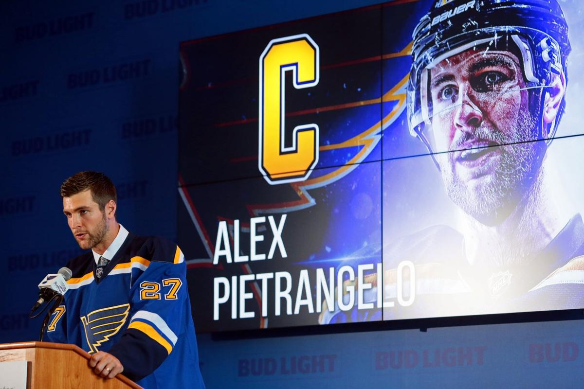best sneakers 7dc7e 8e5f2 Ortiz: New Blues captain Pietrangelo in good company | St ...