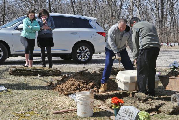 A family tells their service dog, Ralph, goodbye