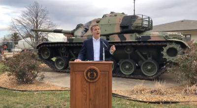 Gov. Eric Greitens speaks at St. Louis Veterans Home