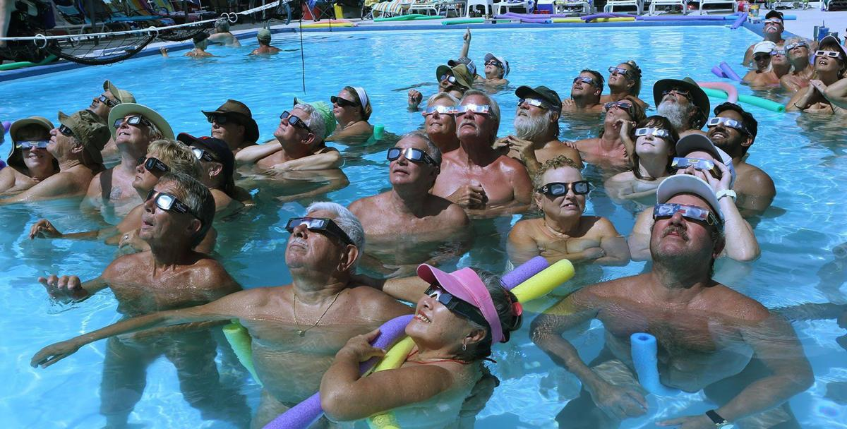 Sun Worshipers Watch the Eclipse