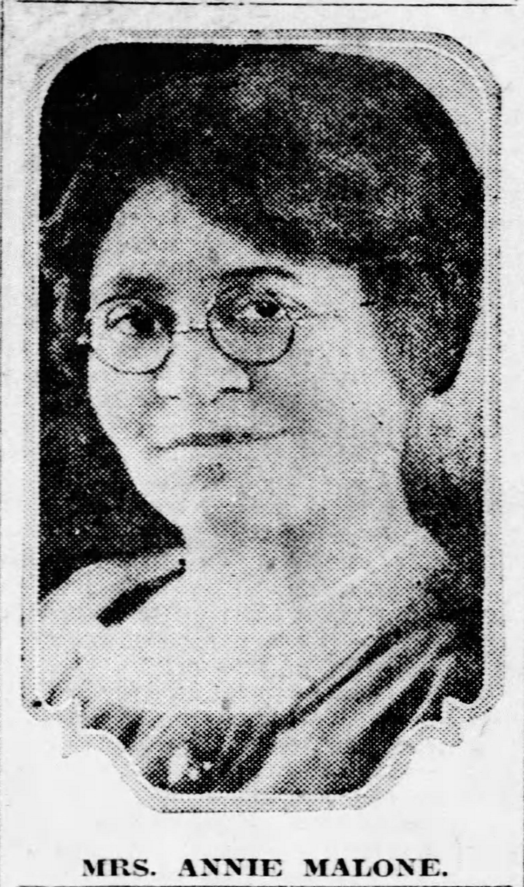 Poro College, owned by Annie Malone, made hair straighteners. Malone was, in 1930 when she moved the company to Chicago, the richest African-American in St. Louis.