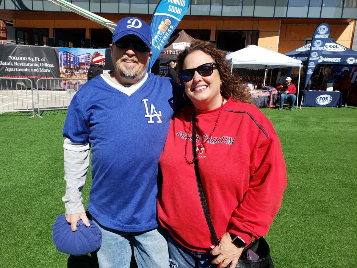 Dodgers fan Tim Parker with Robin Willman