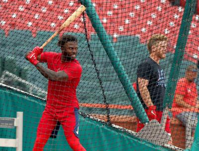 Cards workout before Game 3 curtailed by rain