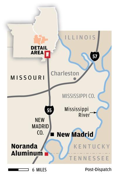 Noranda Aluminum plant map