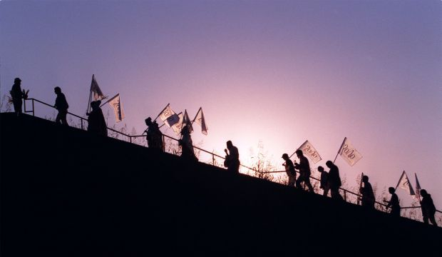 Monk's Mound gives birth to the sun