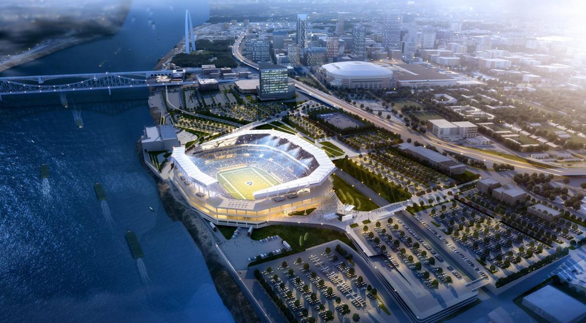 Proposed St. Louis Rams riverfront stadium