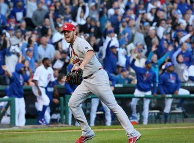 Cardinals v Cubs, NLDS Game 4