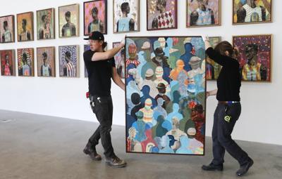Artist Derek Fordjour's CAM show is almost ready