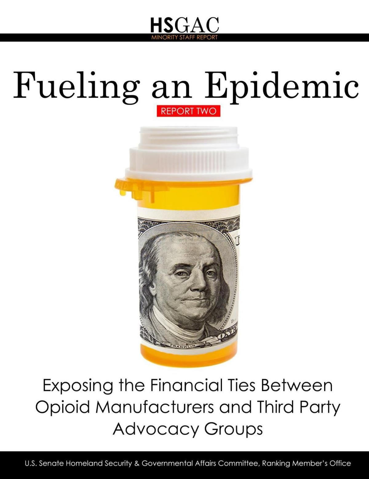 'Fueling an Epidemic' report on opioids