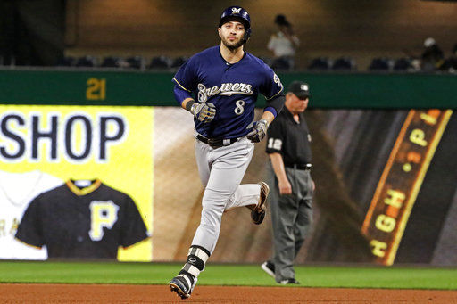 Suter Braun help Brewers beat Bucs to gain in playoff race