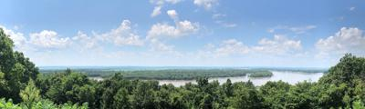 Confluence of Kaskaskia and Mississippi rivers