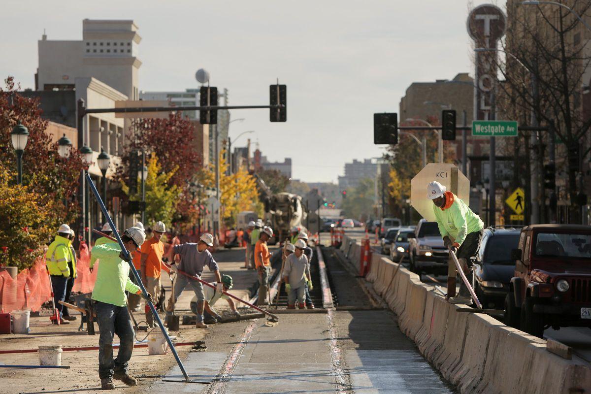 Loop Trolley construction