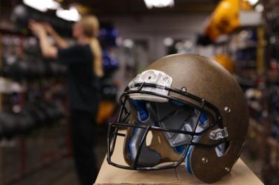 Schutt football helmet with intergrated video camera
