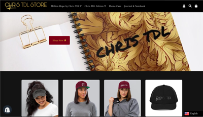 Chris TDL Store | Home page capture.
