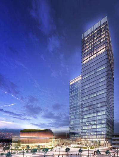 Proposed Centene tower at Forsyth and Forest Park Parkway