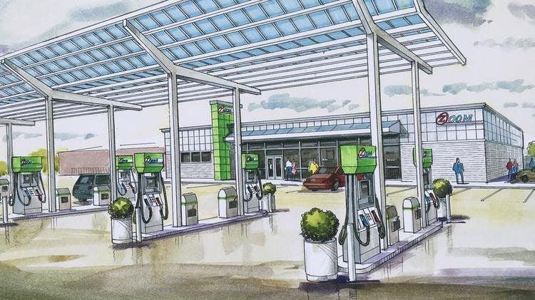 Proposed gas station for Northside Regeneration