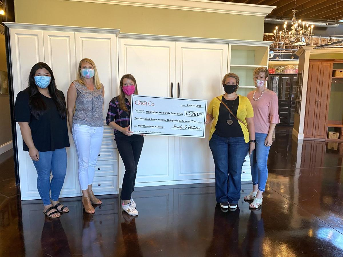 Giant check for $2,781