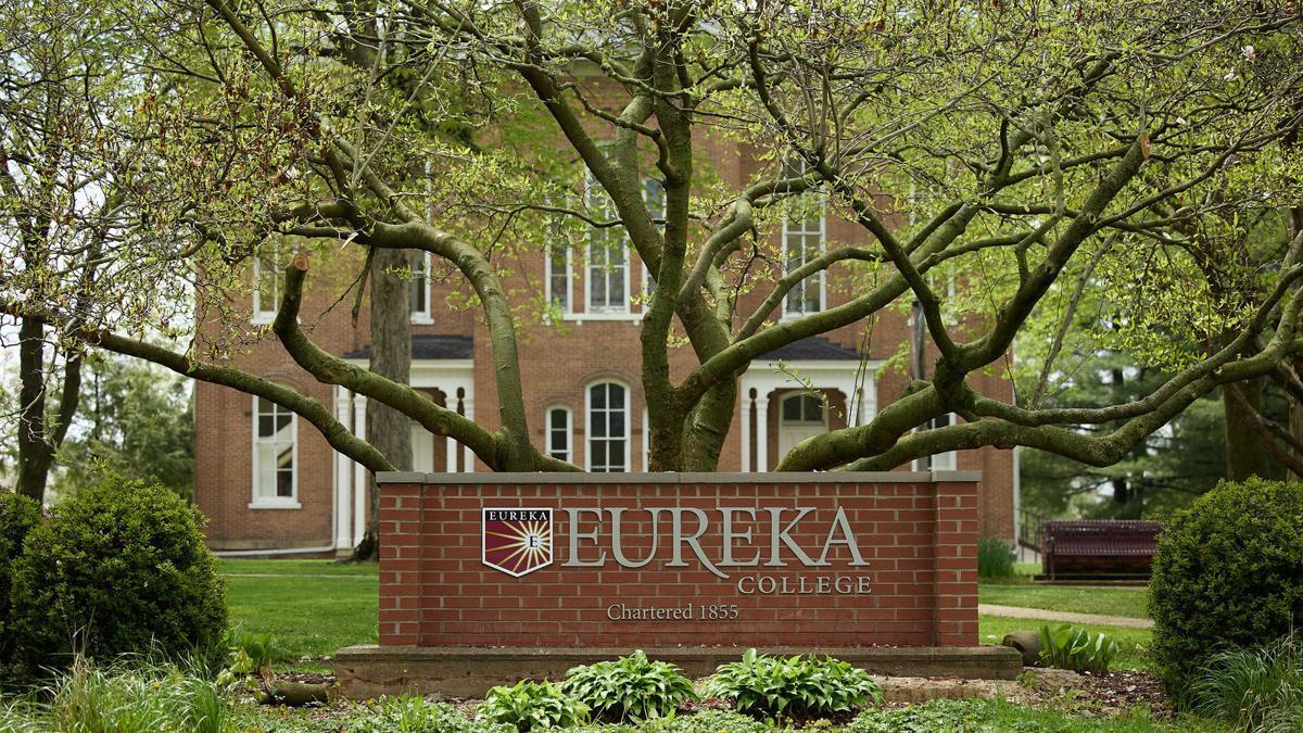 Eureka College sign.