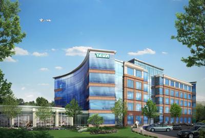 Rendering of planned new Teva Neuroscience building in Overland Park, Kansas