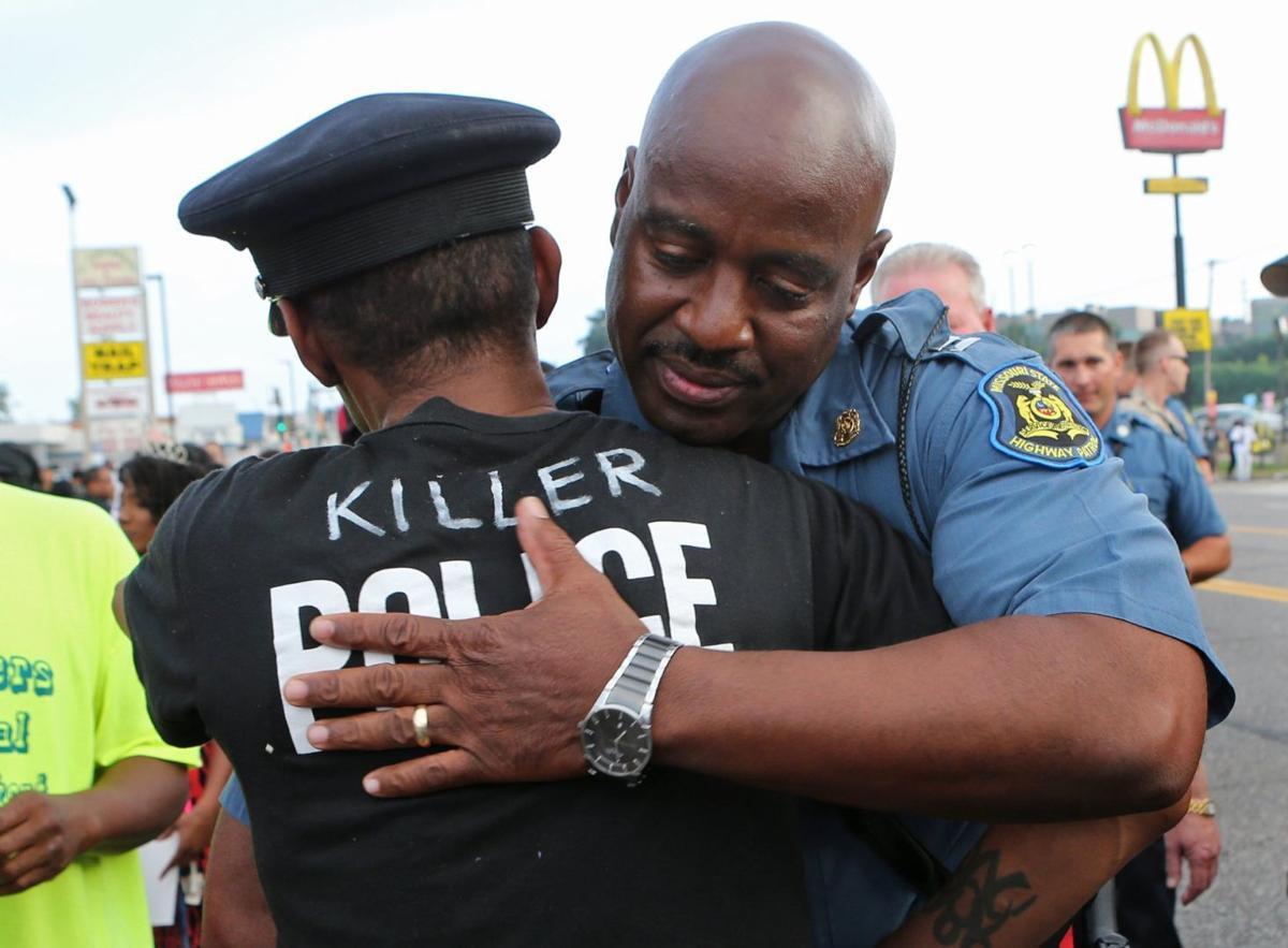 Protesters confront Capt. Ron Johnson