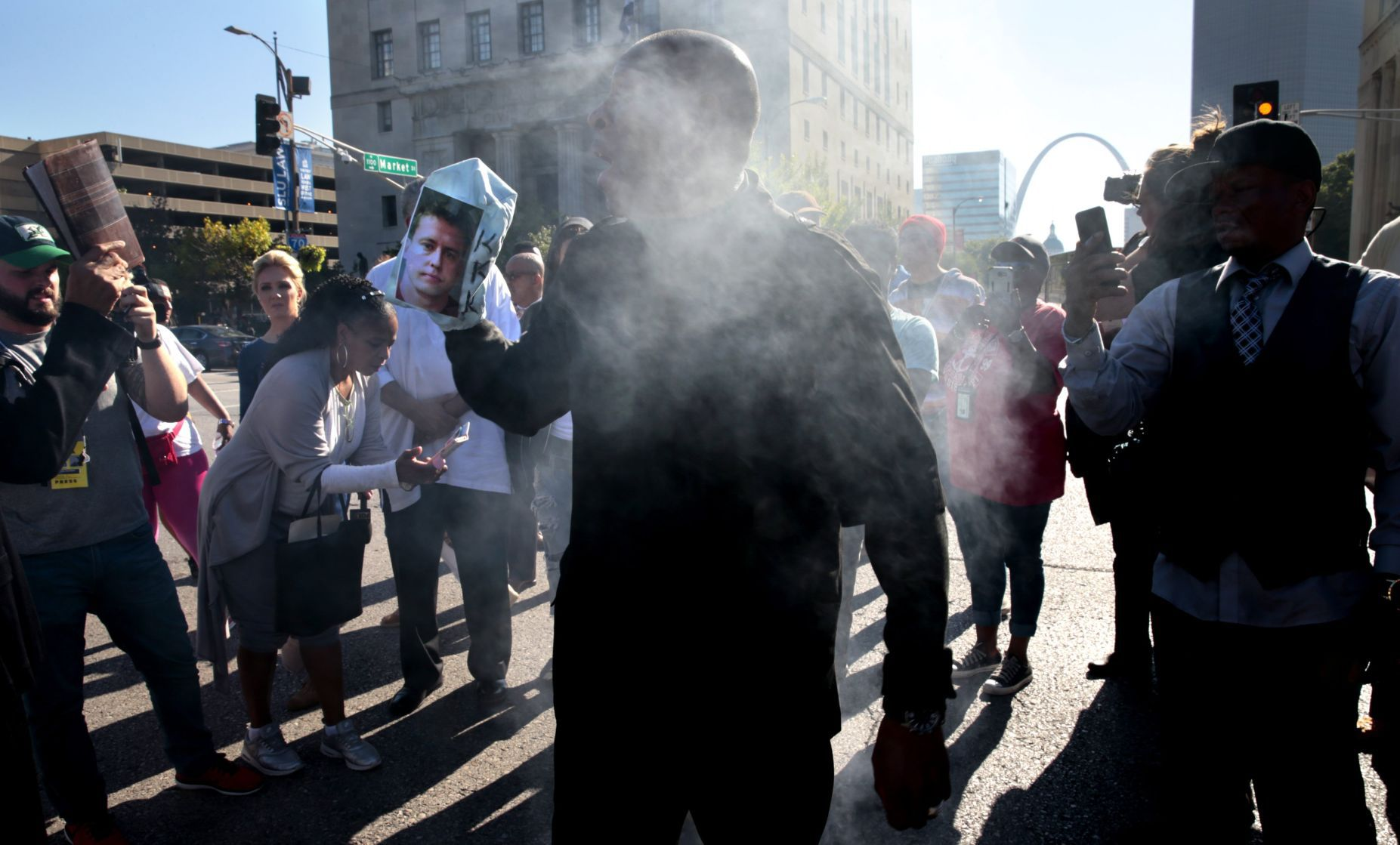 Protesters march in St. Louis after officer's acquittal