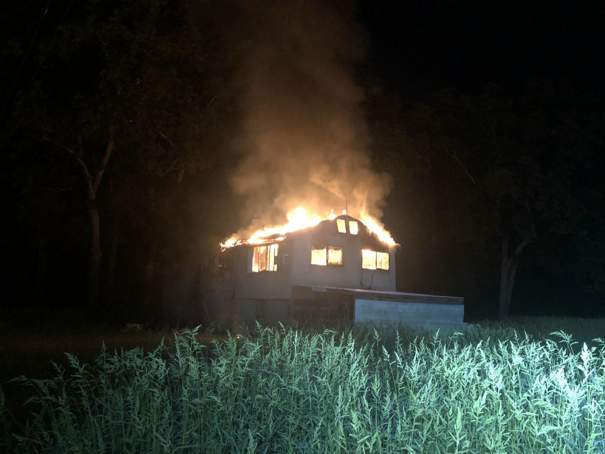 Flood-damaged home catches fire in St. Charles County