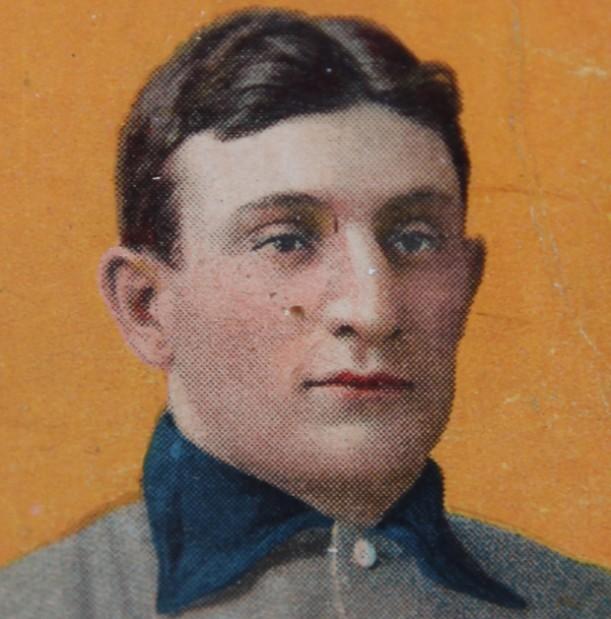 Detail view of Honus Wagner card