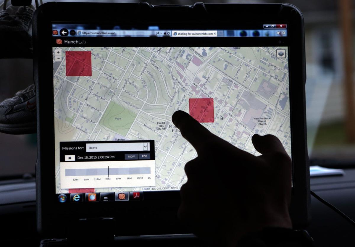 """Jennings Police use the """"HunchLab"""" computer program to patrol a hotspot areas"""