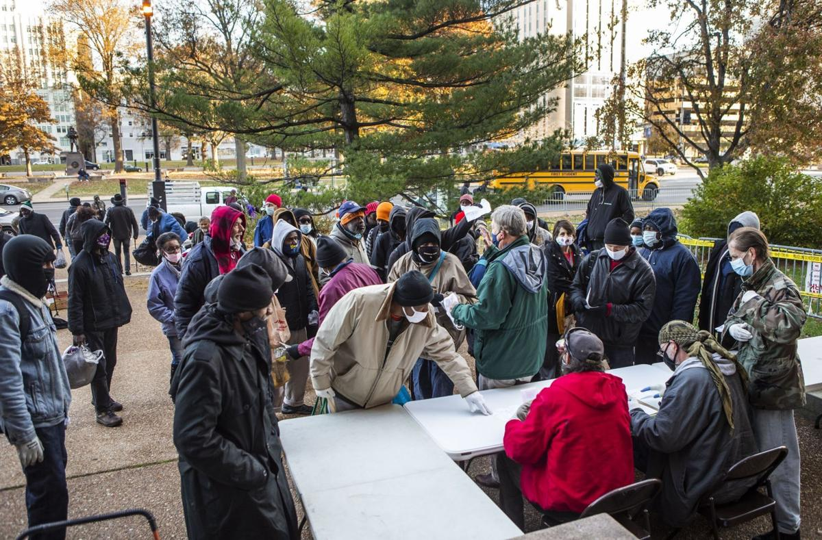 PPE and other resources distributed to the homeless at City Hall