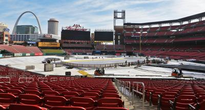 Busch Stadium getting ready for NHL game