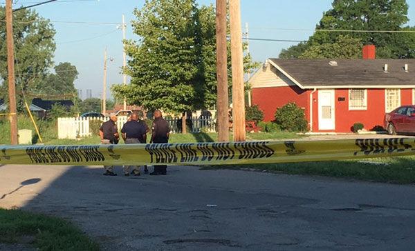 Shooting scene in East St. Louis
