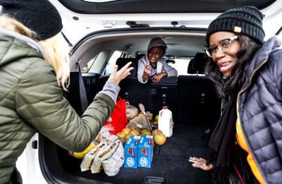Drive-thru food bank
