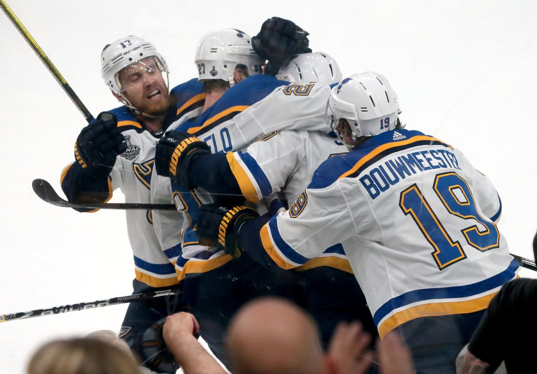 image relating to St Louis Blues Printable Schedule identified as Blues announce 2019-20 routine, which consists of the NHL All
