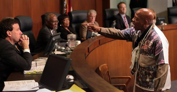 Ferguson protesters speak before St. Louis County Council