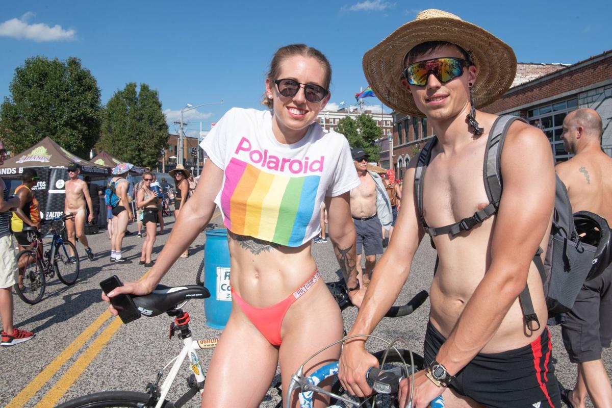 A lot of bikes, not a lot of clothes at 2019 World Naked Bike Ride in St. Louis